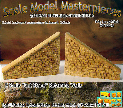 "Scale Model Masterpieces ""Cut Stone"" Retaining Wall Set Z Scale -SMM11"