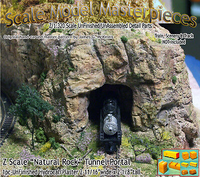 """Z Scale """"Natural Rock"""" Tunnel Portal Scale Model Masterpieces*Brand NEW PRODUCT*"""