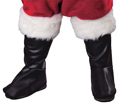Deluxe Vinyl Boot Tops - Morris Costumes Men's Faux Rabbit Fur Deluxe Vinyl Santa Boot Tops. FW7535