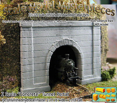 "Scale Model Masterpieces ""Formed Concrete"" Tunnel Portal Z Scale -SMM11"