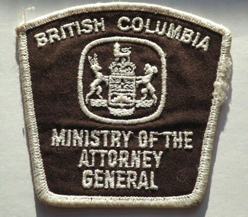 RARE Ministry of the Attorney General British Columbia Patch