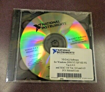 National Instruments N-daq Software For Windows 2000npxpme9x Version 6.9.3