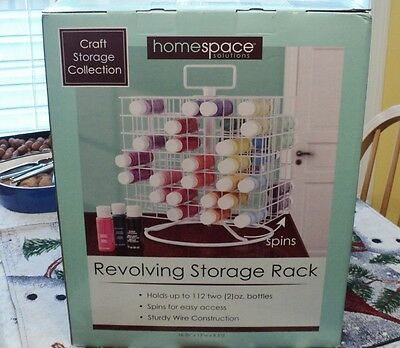 Craft Acrylic Paint Storage Rack Organizer Wire Carousel Revolving New holds 112