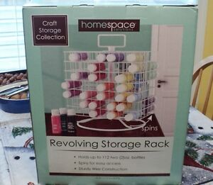 Wire Craft Paint Storage Rack Spinning Carousel Holder 112