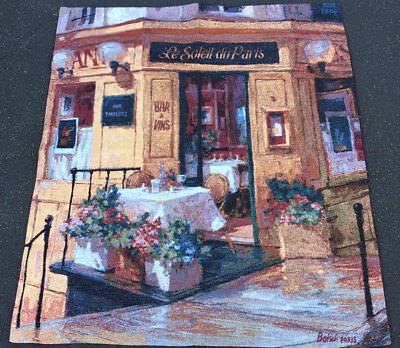 La Petite Terrasse ~ Cafe Restaurant in Paris Grande Tapestry Wall Hanging