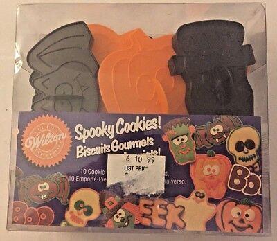 Spooky Halloween Cookies (Wilton HALLOWEEN Spooky Cookies! plastic cookie cutters set of 10 NEW)
