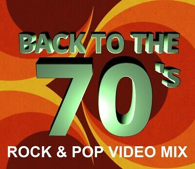 70's ROCK & POP MUSIC VIDEOS DVD - BTO, Boston, Abba, Gary Wright & MORE 51 HITS