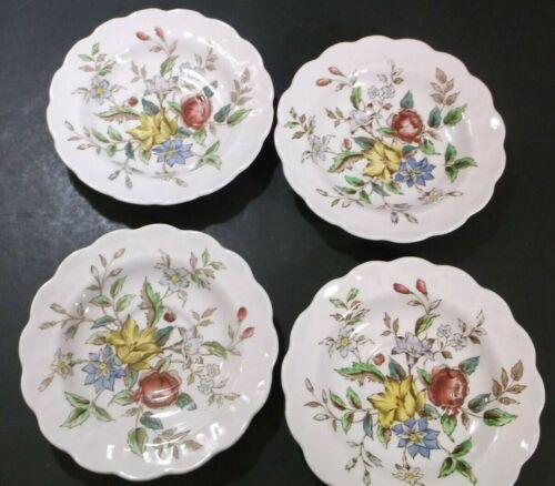 """Booths Flowerpiece A8064 5 3/4"""" saucers set of 4"""