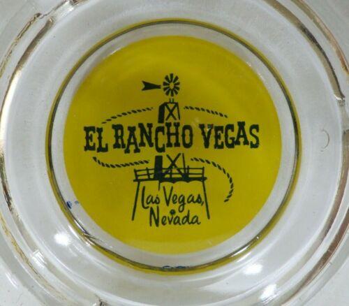 El Rancho Casino Hotel Downtown Las Vegas Heavy Glass Ashtray Vintage