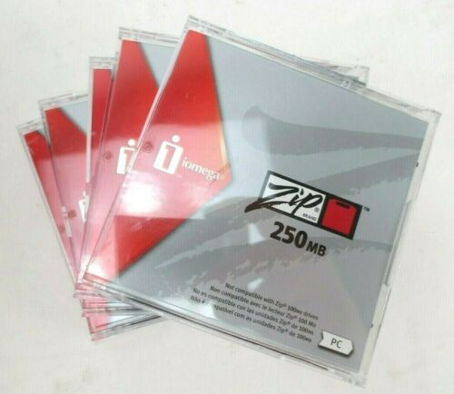 Iomega 250MB Zip Disks 5 Pack Formatted for PC 00996P