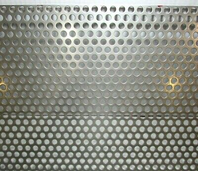 38 Round Hole --16 Gauge-304 Stainless Steel Perforated Sheet 4 X 12