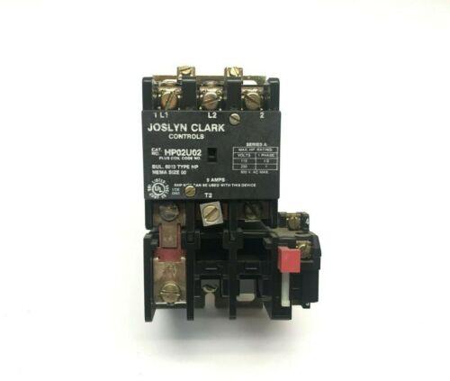 Joslyn Clark Controls HP02U02 Bul 6013 Type HP Single Phase Contactor Starter