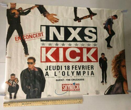HUGE SUBWAY POSTER INXS Kick Never Tear Us Apart New Sensation Classic Rock