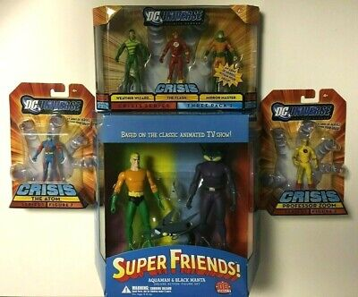 DC DIRECT SUPER FRIENDS AQUAMAN & BLACK MANTA ACTION FIGURE SET NEW NISB ++BONUS