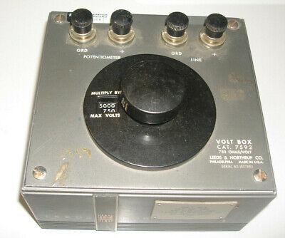 Leeds Northrup Volt Box Cat 7592 750 Ohmsvolt Potentiometer