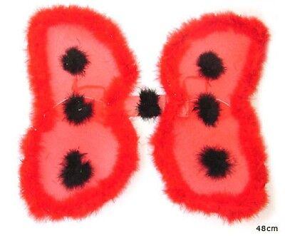/Maikäfer rot mit Marabu 48 x 50 cm groß  (Marienkäfer Flügel)