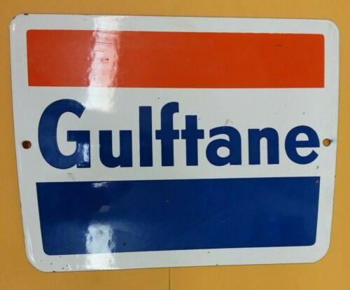 Original Gulftane Porcelain Sign