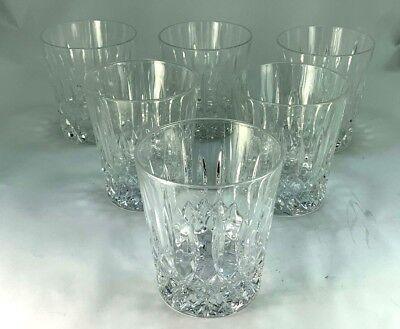 Elegant Six Waterford Heavy Crystal Glasses Old Fashioned/Whiskey Tumblers  Elegante Waterford Crystal