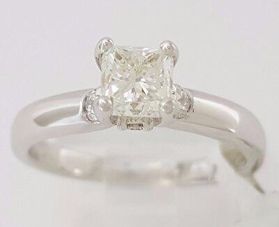 1.04 ct Cordova 14K White Gold Radiant Cut Diamond Solitaire Engagement Ring GIA 6