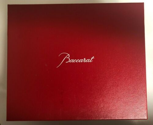 BACCARAT RED BOX 9.5 x 7.25 x 5 empty  - see description