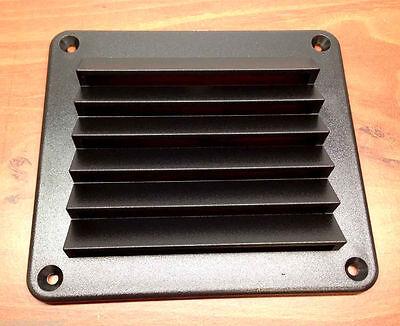"MARINE BOAT BLACK UV STABILIZED ABS VENTILATOR COVER PLATE 5.5""X4.9"""