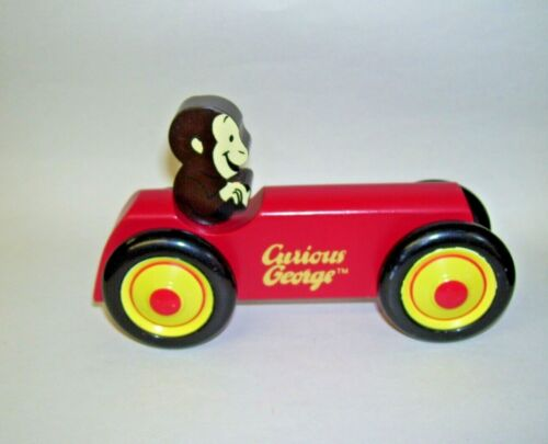 Curious George Wooden Car Schylling Rowley MA