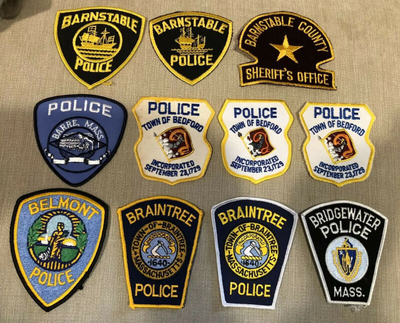 Massachusetts Police Patch Lot of 20 B's