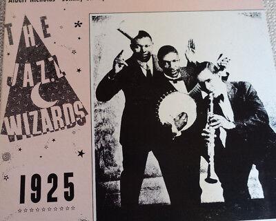 LP Jazz Vinyl 1925 Albert Nicolas - Johnny St. Cyr - Jazz Wizards