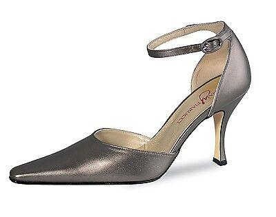 Dark Bronze Leder Schuhe (Abendschuhe Riemchenpums Fiaruci Lana Dark Bronz HOCHZEITSSCHUHE Echt Leder)