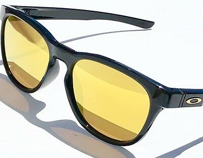 NEW* Oakley STRINGER Black Polished 24K Gold Fire Iridium Sunglass oo9315-04