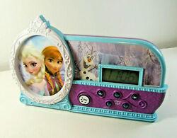 Disney Frozen Night Glow Alarm Clock, Elsa, Anna,&Olaf Light Up, Let It Go alarm