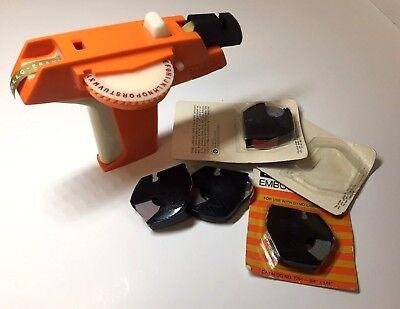 Vintage Orange Dymo Label Maker Tested Working - Free Shipping