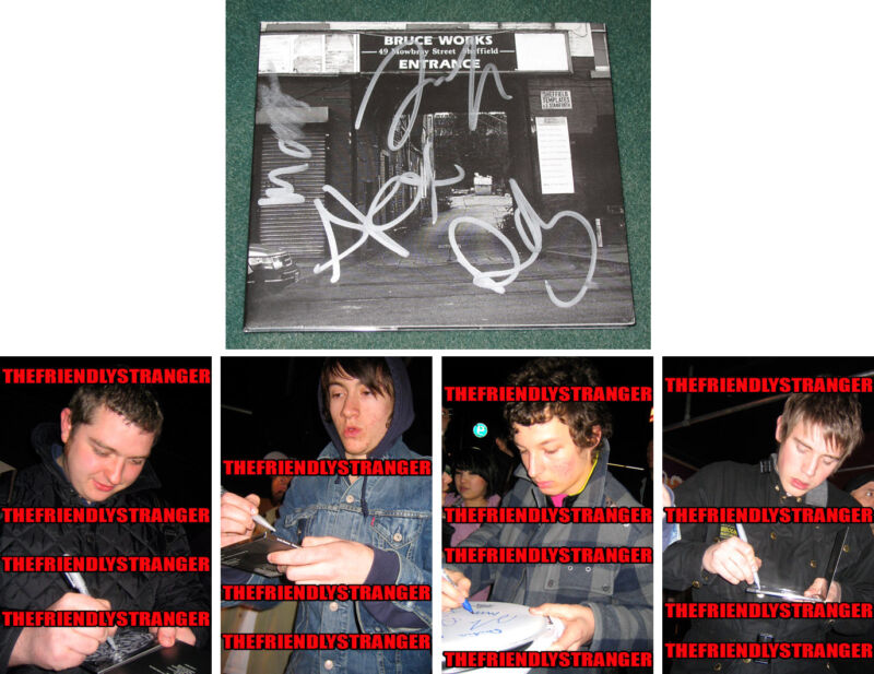 """ARCTIC MONKEYS signed """"WHEN THE SUN GOES DOWN"""" CD CASE - PROOF - Alex Turner COA"""