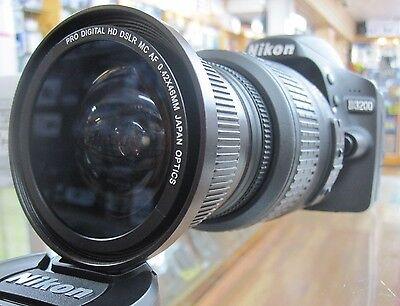 Fisheye Macro Lens For Nikon D3300 D5300 D7100 D3100 D40 D40x D50 3 Lens Kit Uv
