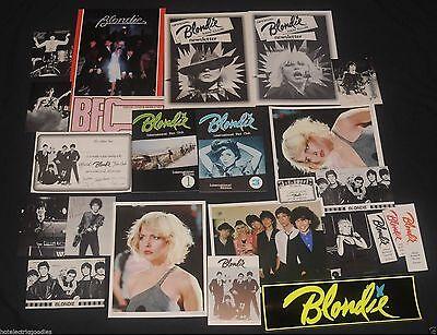 Rare 1979 Official Blondie Fan Pack Debbie Harry 24 items Collectors lot Deborah