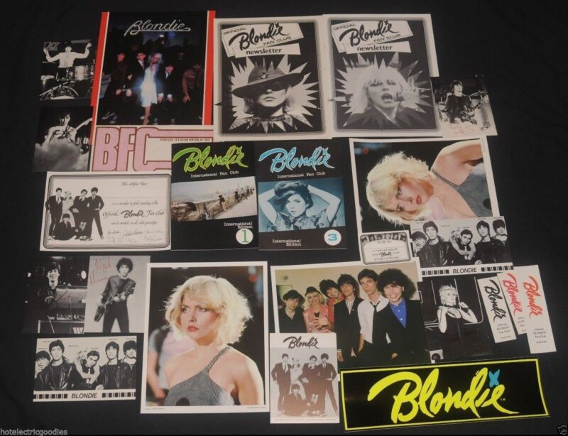25 items Rare 1979 Official Blondie Fan Club Debbie Harry Collectors lot Deborah