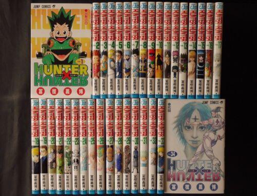JAPAN Yoshihiro Togashi manga: Hunter x Hunter vol.1~34 Set