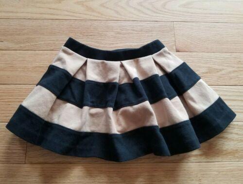Girls JANIE And JACK Black & Tan Striped SKIRT Size 2T