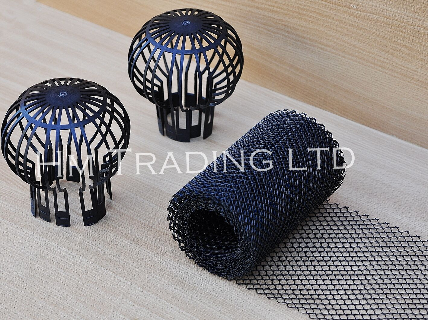 2pc Downpipe Filter 5m Gutter Mesh Stop Leaf Drain Roof
