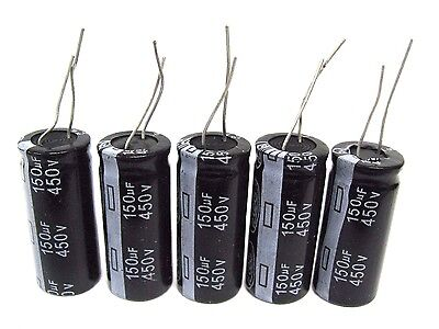 150uf 450v 5x Electrolytic Capacitors 450v 150uf Volume 18x40 Mm