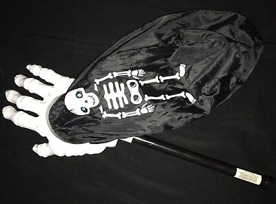 boys HALLOWEEN CANDY SKELETON HAND GRABBER with BAG BONES ALL AGES @@ - Halloween Hand Candy Bag