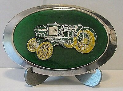 John Deere Waterloo Boy N Two-Cylinder Kerosene Tractor Belt Buckle jd Silver