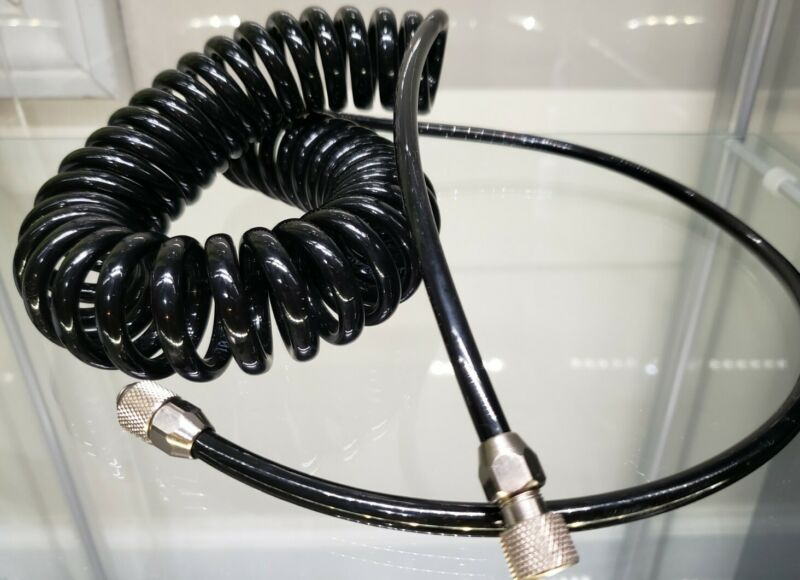 """Sparmax coiled air hose 1/8""""-1/8"""" for airbrush-compressor connection"""