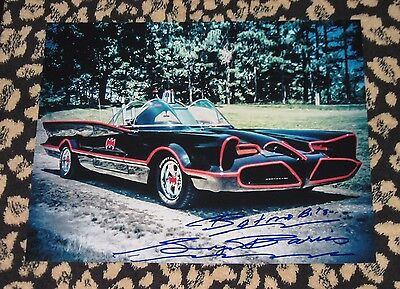 Rare GEORGE BARRIS signed 11x14 photo autograph BATMOBILE Adam West Batman car