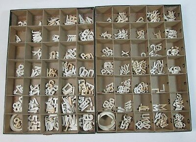 Incomplete Boxes 1 And 34 Changeable Sign Plastic Letters Numbers 100904