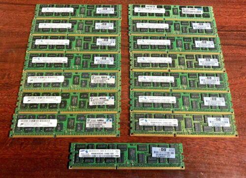 15pc ~ SAMSUNG 8GB 2RX4 PC3-10600R Memory RAM ~ HP 500205-071 ~ FREE SHIP