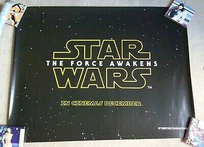 Star Wars The Force Awakens Episode VII UK Cinema/Film Teaser Quad Poster