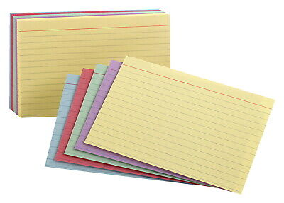 Oxford Rainbow Ruled Index Cards 3 X 5 Inches Assorted Colors Pack Of 100