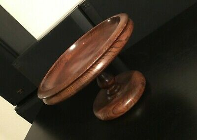 VINTAGE small SUPERB DESIGN wooden fruit bowl STYLE