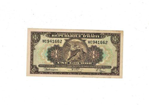 Haiti  1 Gourde ND(L.1919)  P-174  PREFIX WC VF